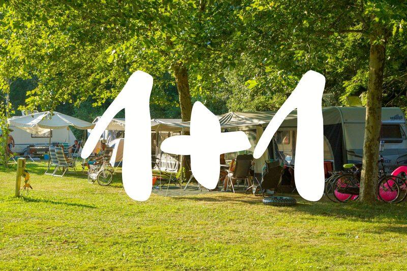 1 + 1 gratis kampeerplaatsen 2