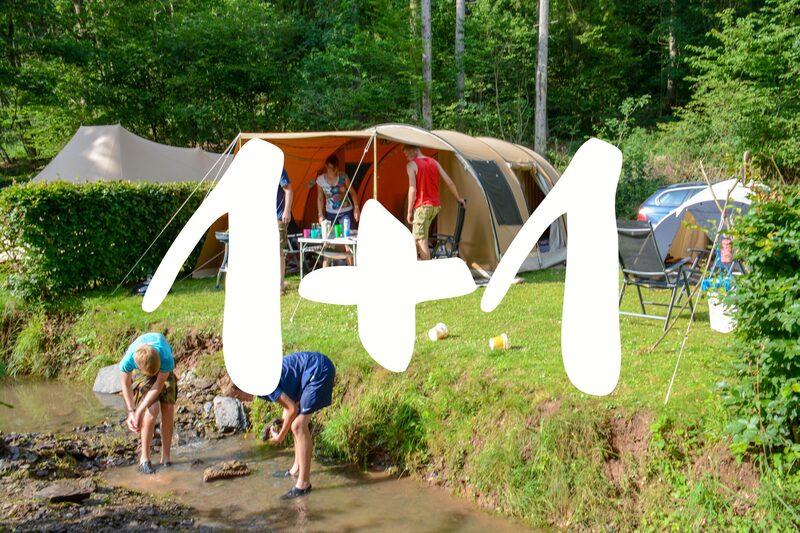 1 + 1 gratis kampeerplaatsen