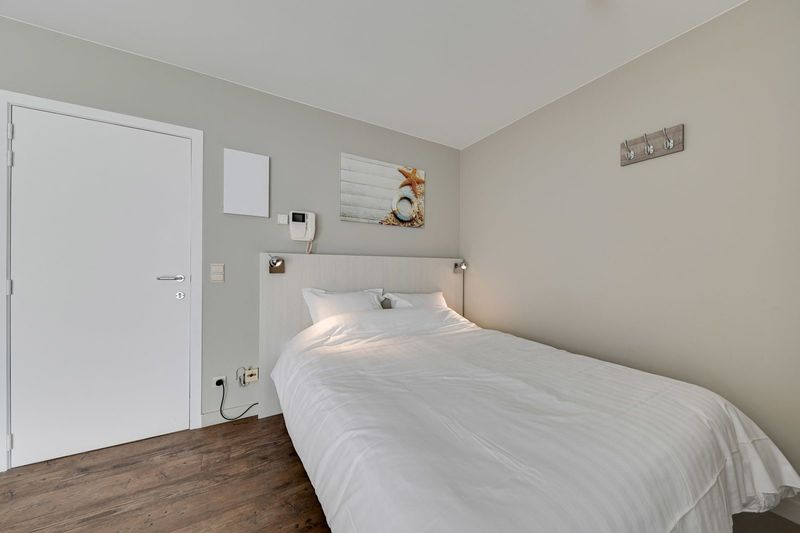 2p Studio with a double bed in Den Haan in Belgium