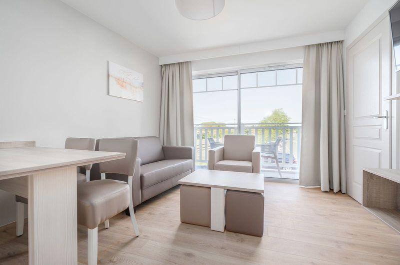 4p Luxueus vakantieappartement, 2 slaapkamers en balkon, La Brise des Dunes
