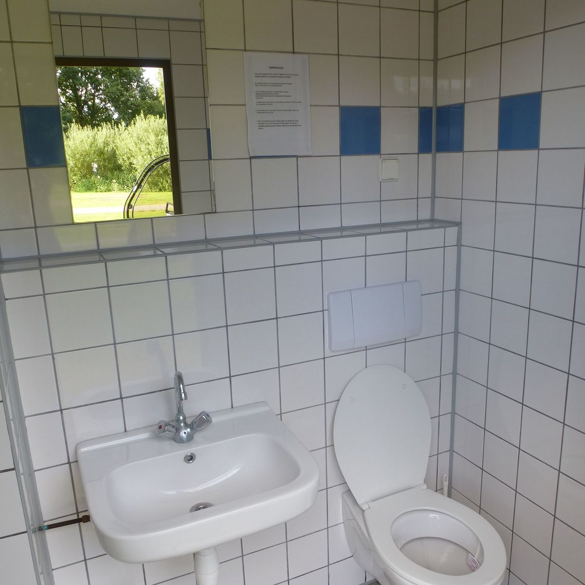 Pitch with private Toilet and shower