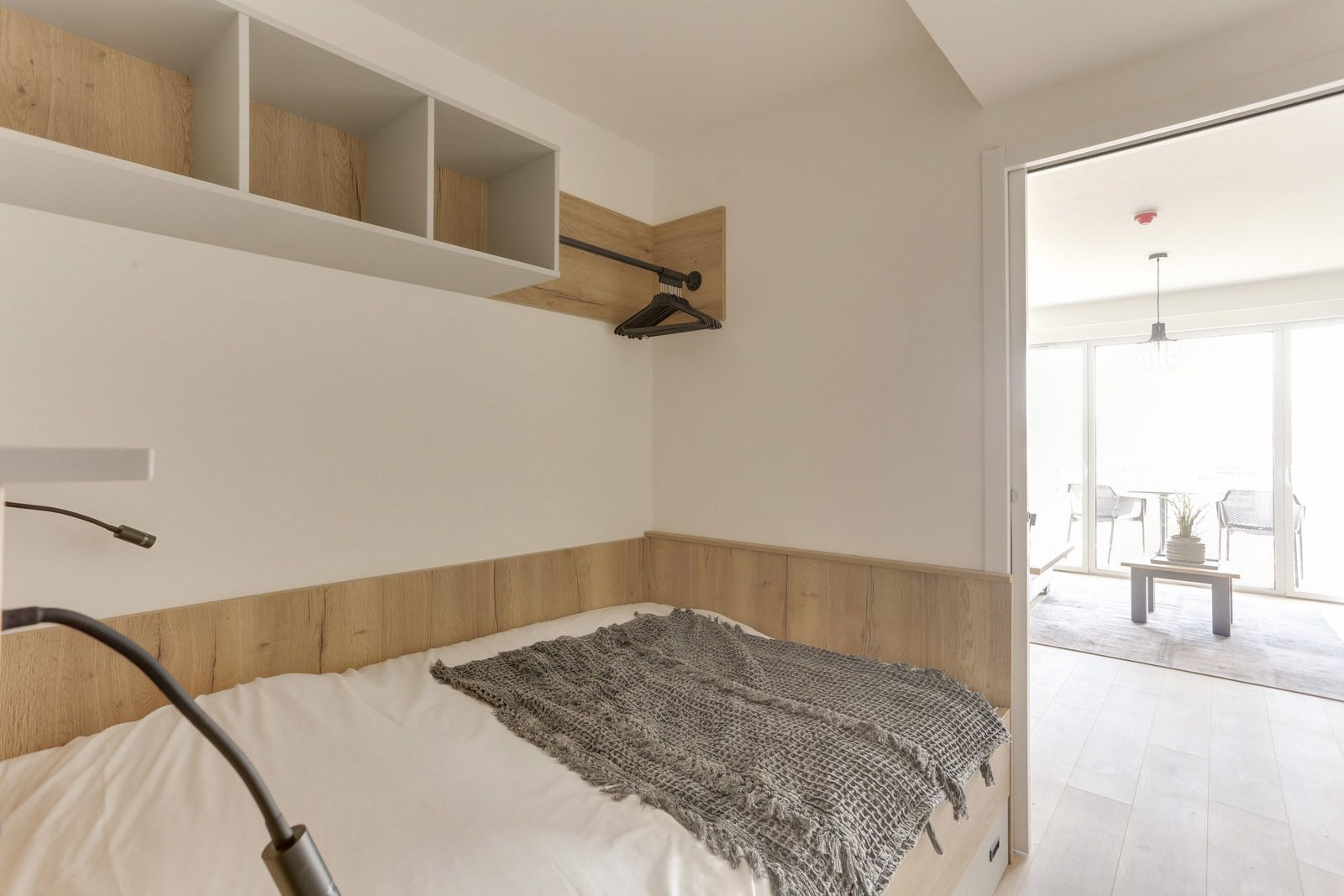 Studio for 4 people with double bed and balcony
