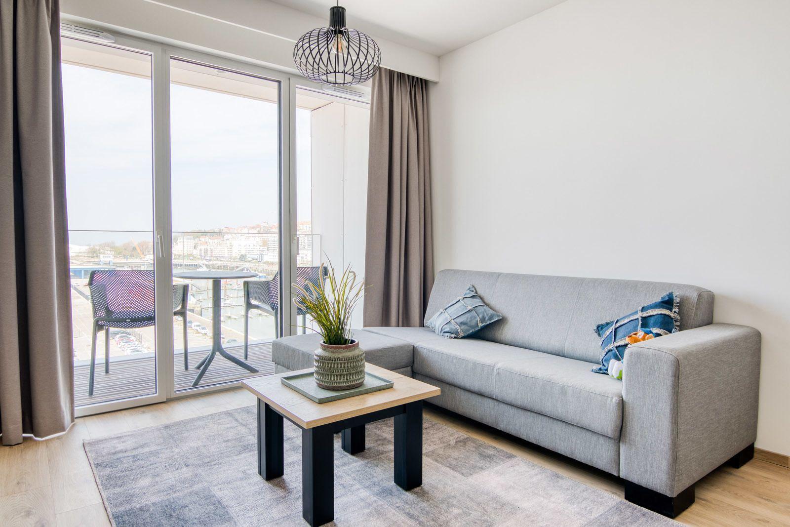 Suite famille pour 4 personnes avec lits simples et balcon