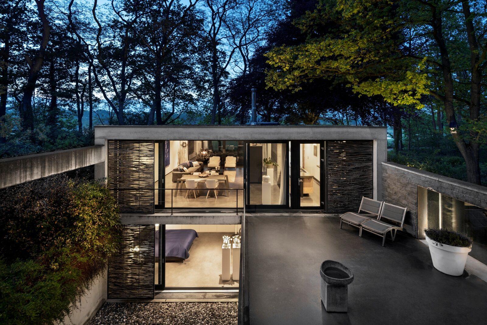 Betonnen Boshuis - luxe vakantiehuis in Brabant