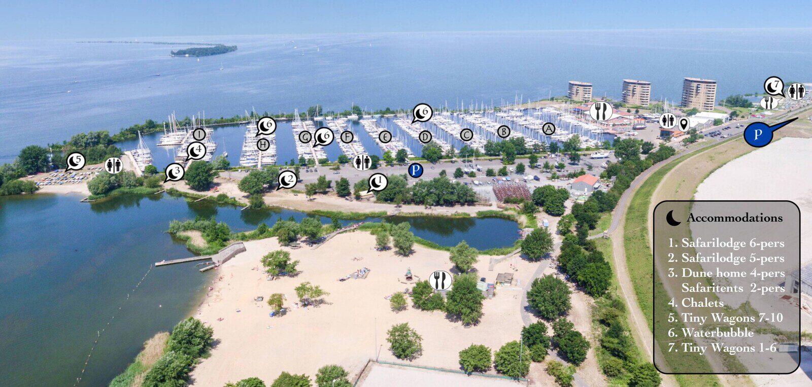 Water Bubble Jachthafen Muiderzand Almere