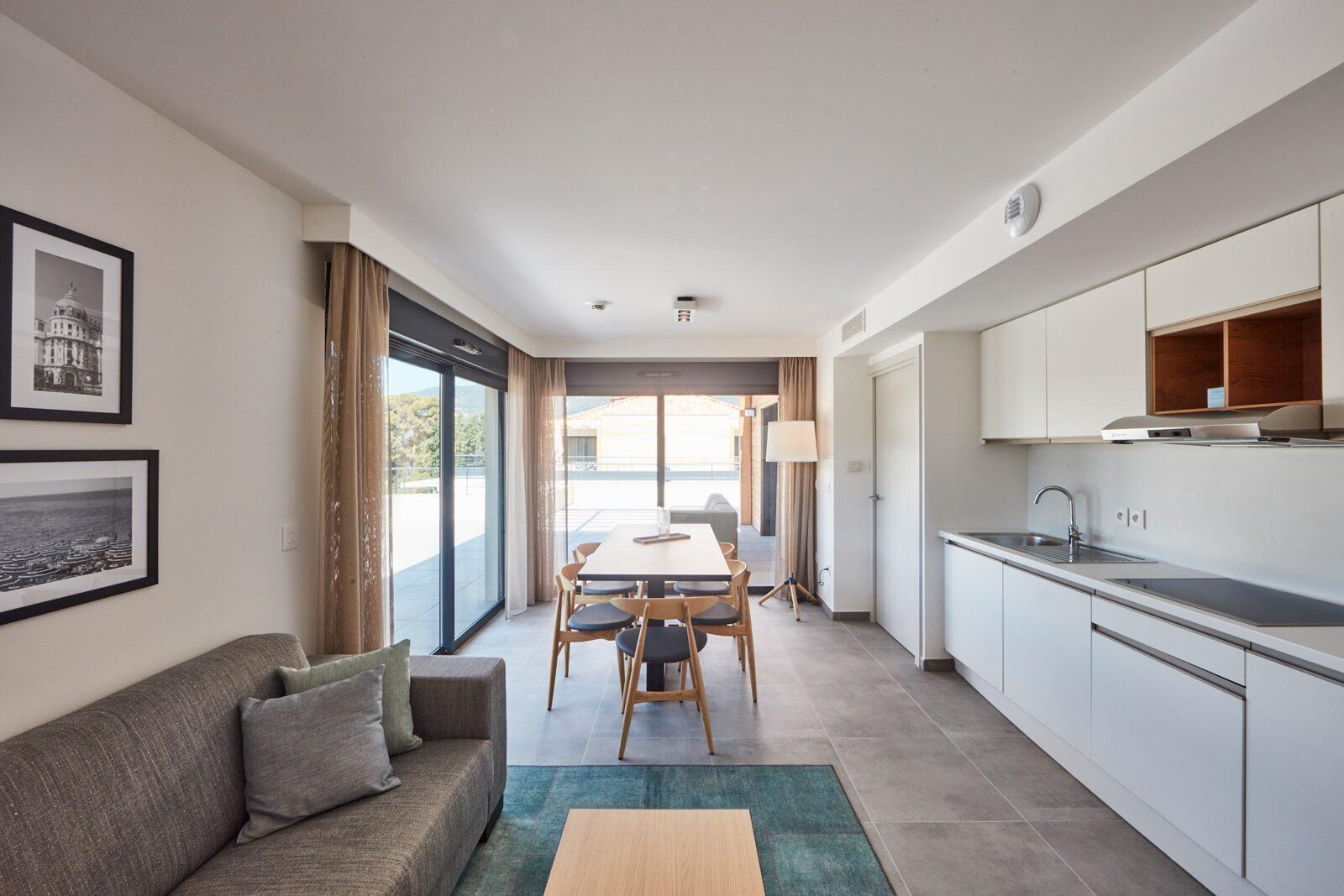 Nieuwe deluxe penthouse voor 6 personen met 2 kamers