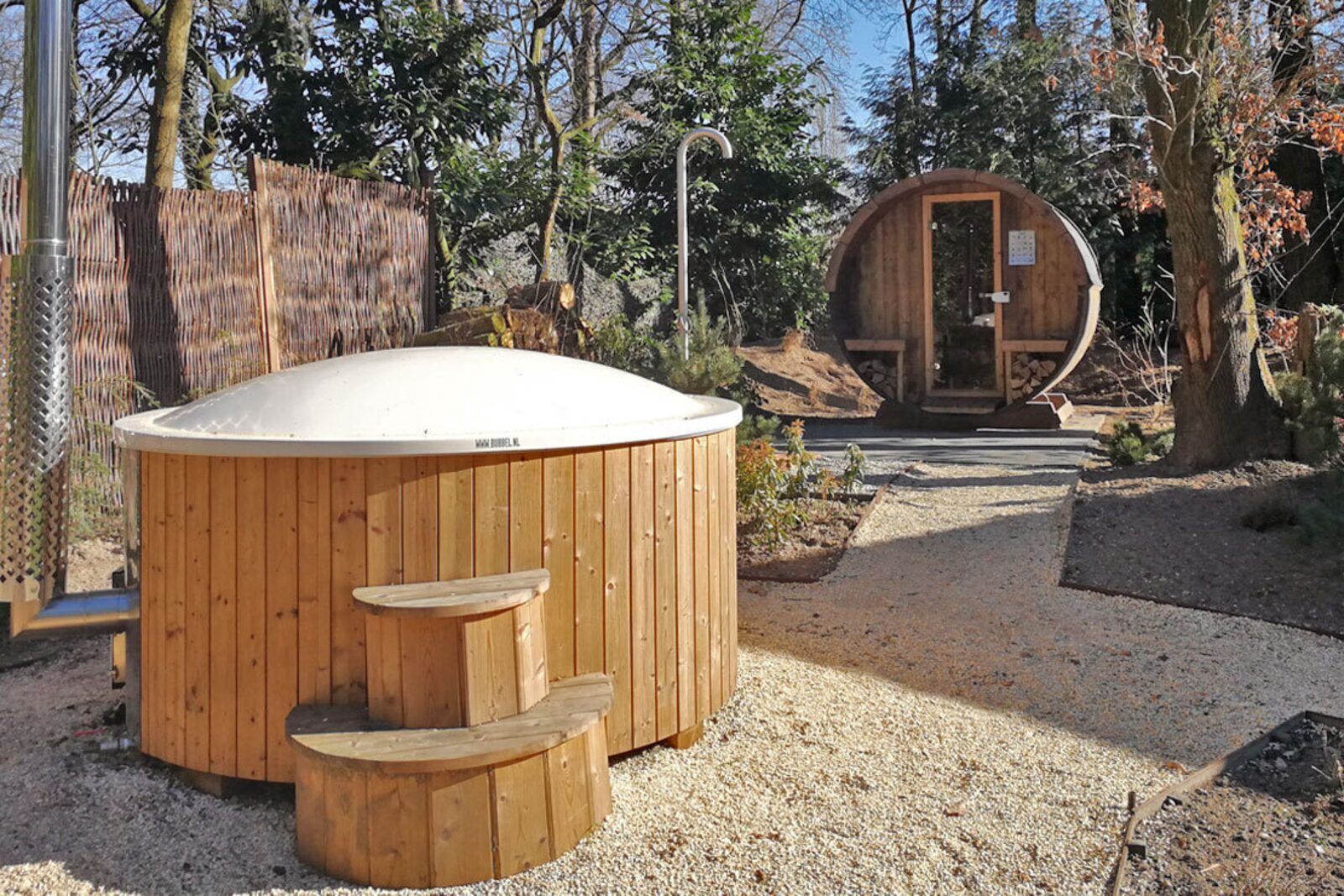 Use of Sauna and Hot Tub Forest Bungalow Wellness