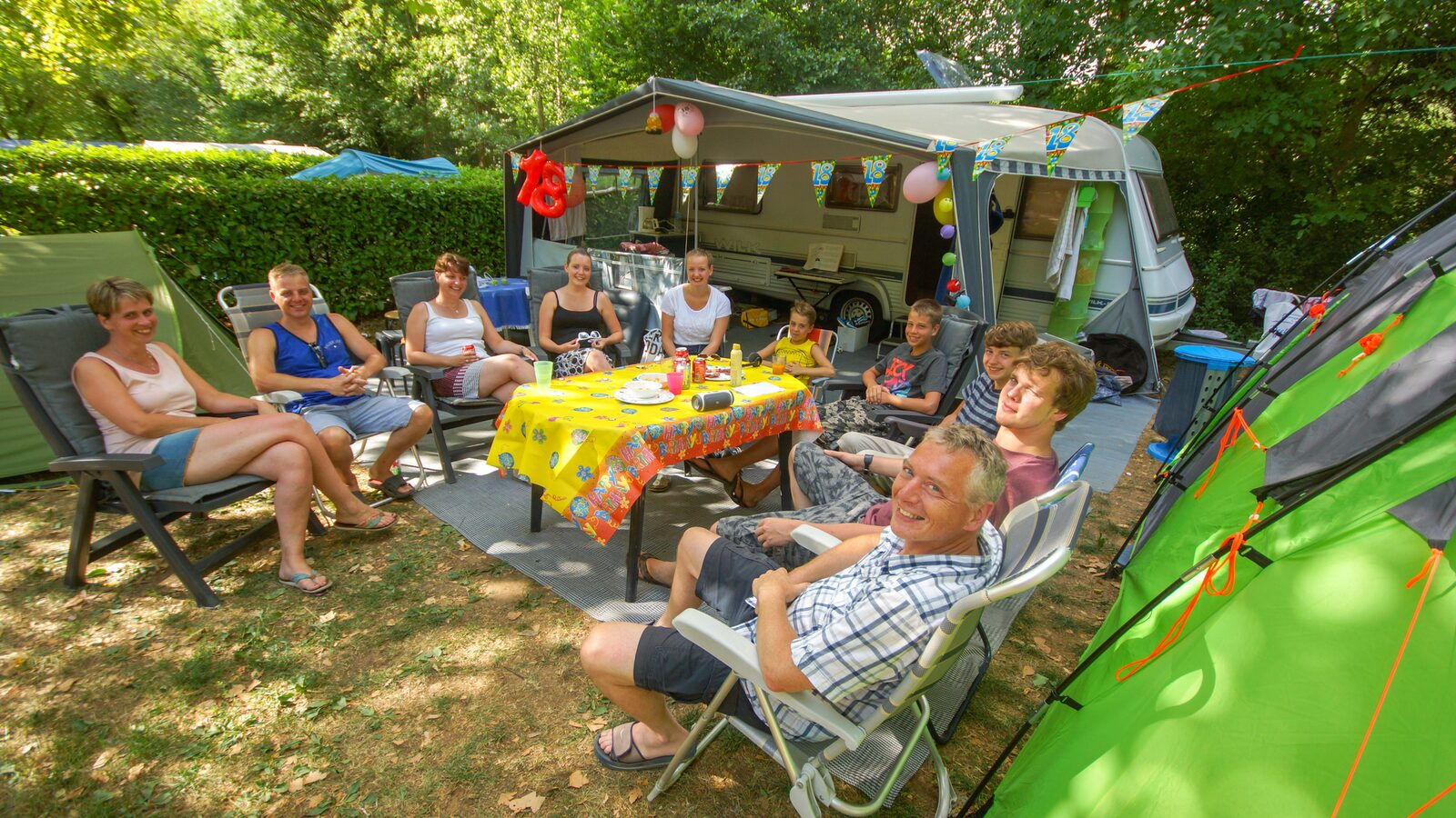 Camping pitches XXL