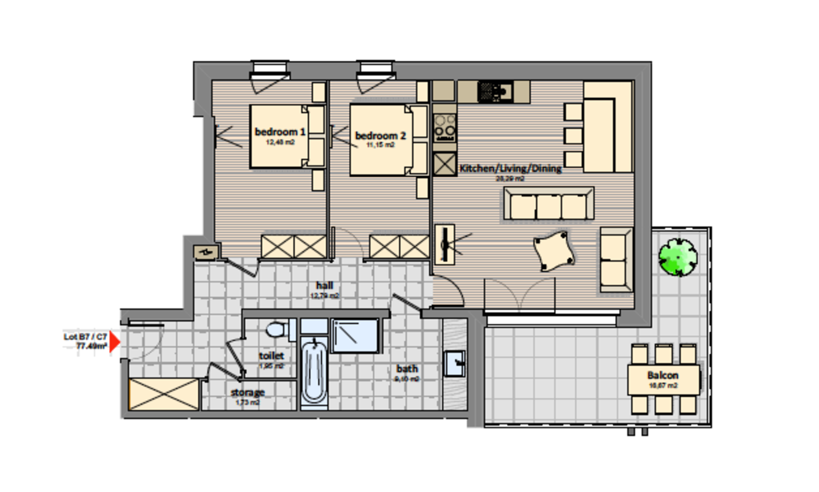 Luxury 3 room apartment | 4 Pers.