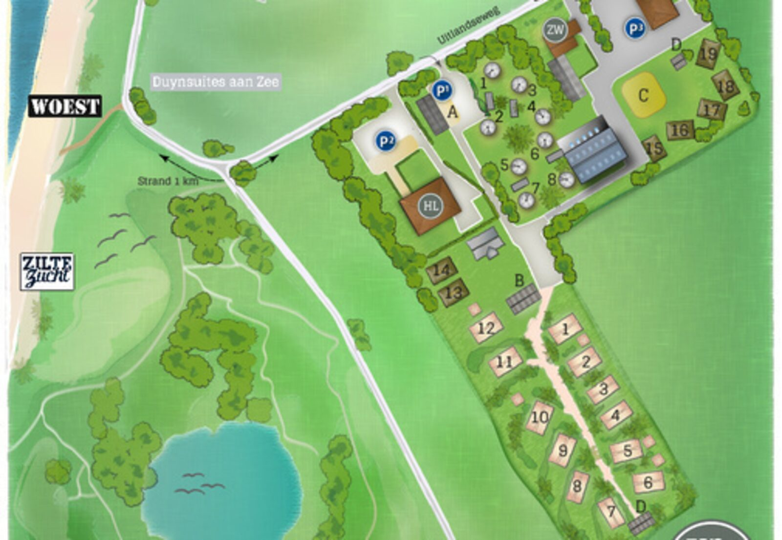 Duynpark het Zwanenwater - Woodlodge