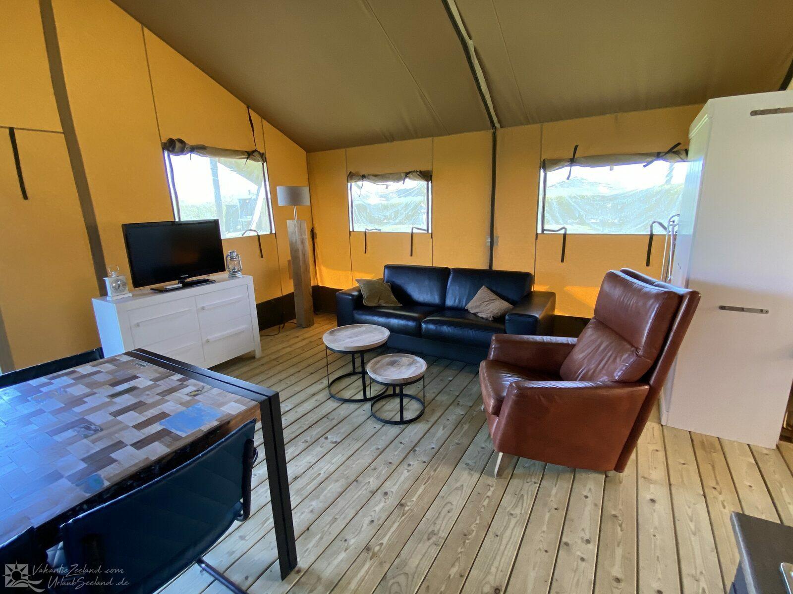 VZ785 Safari tent in Ellemeet