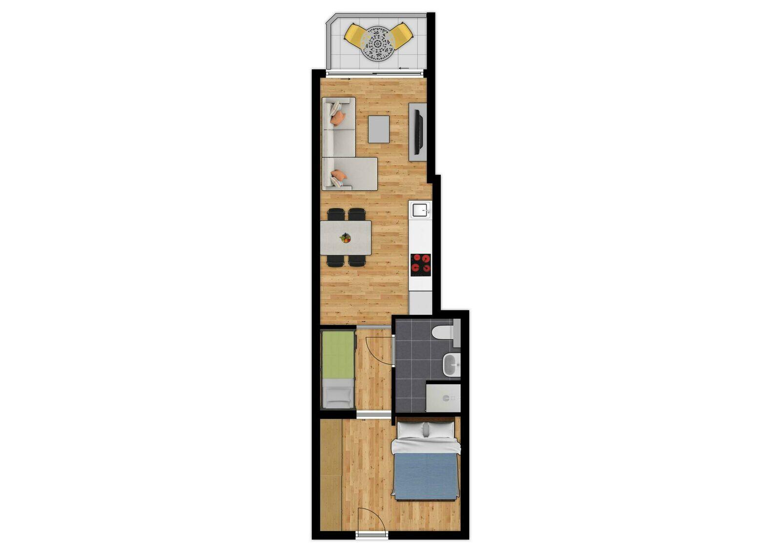 Suite -  4p | Balcon | Vue de ville