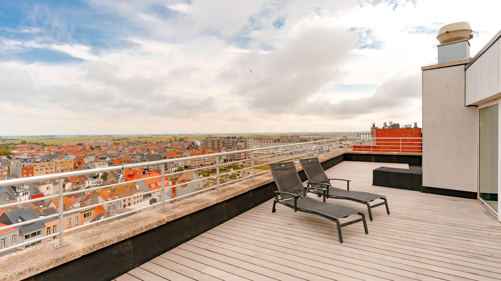 Penthouse -  10p | Rooftop terras | Zeezicht