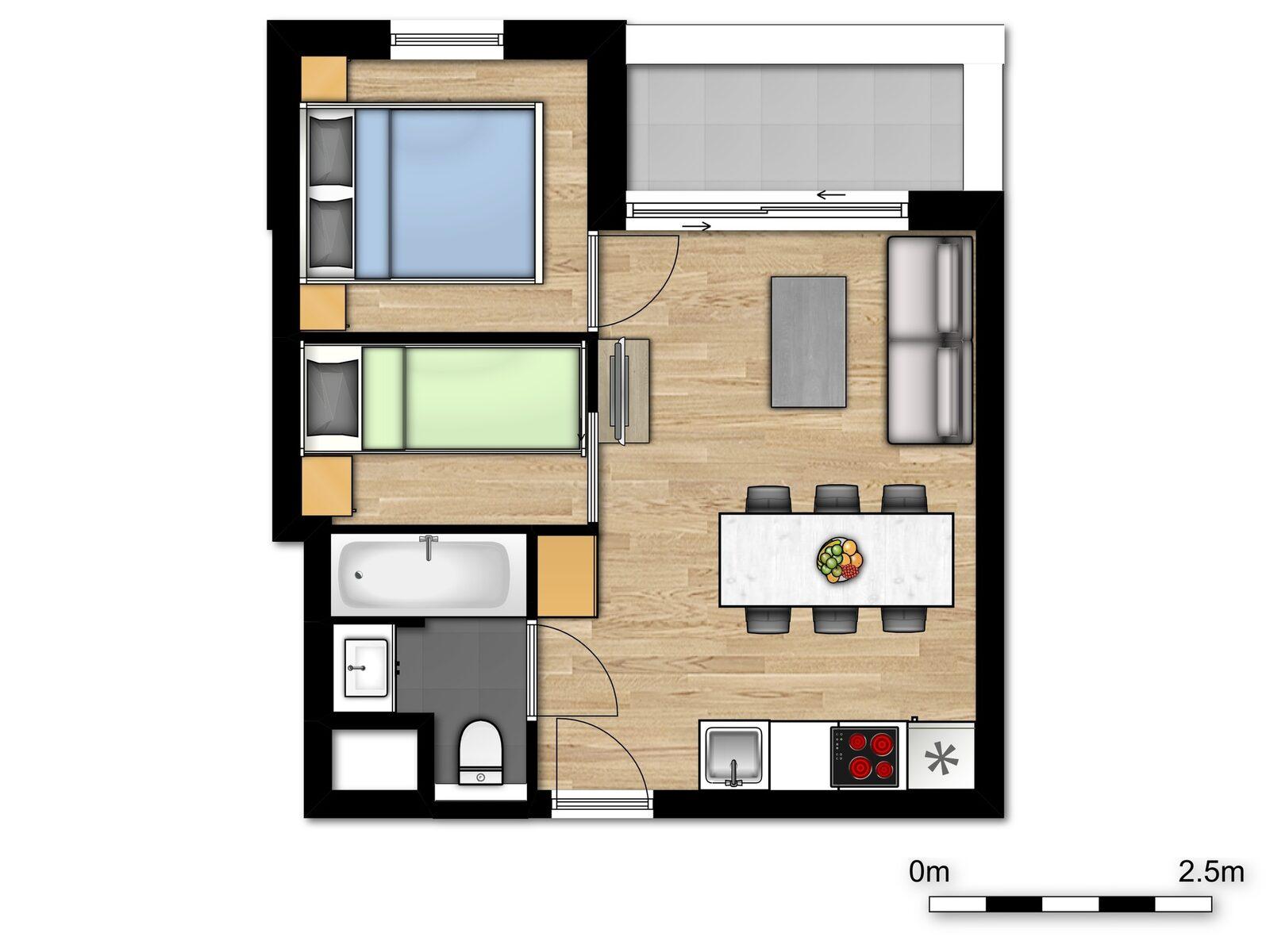 Deluxe Holiday Suite pour 2 adultes et 3 enfants
