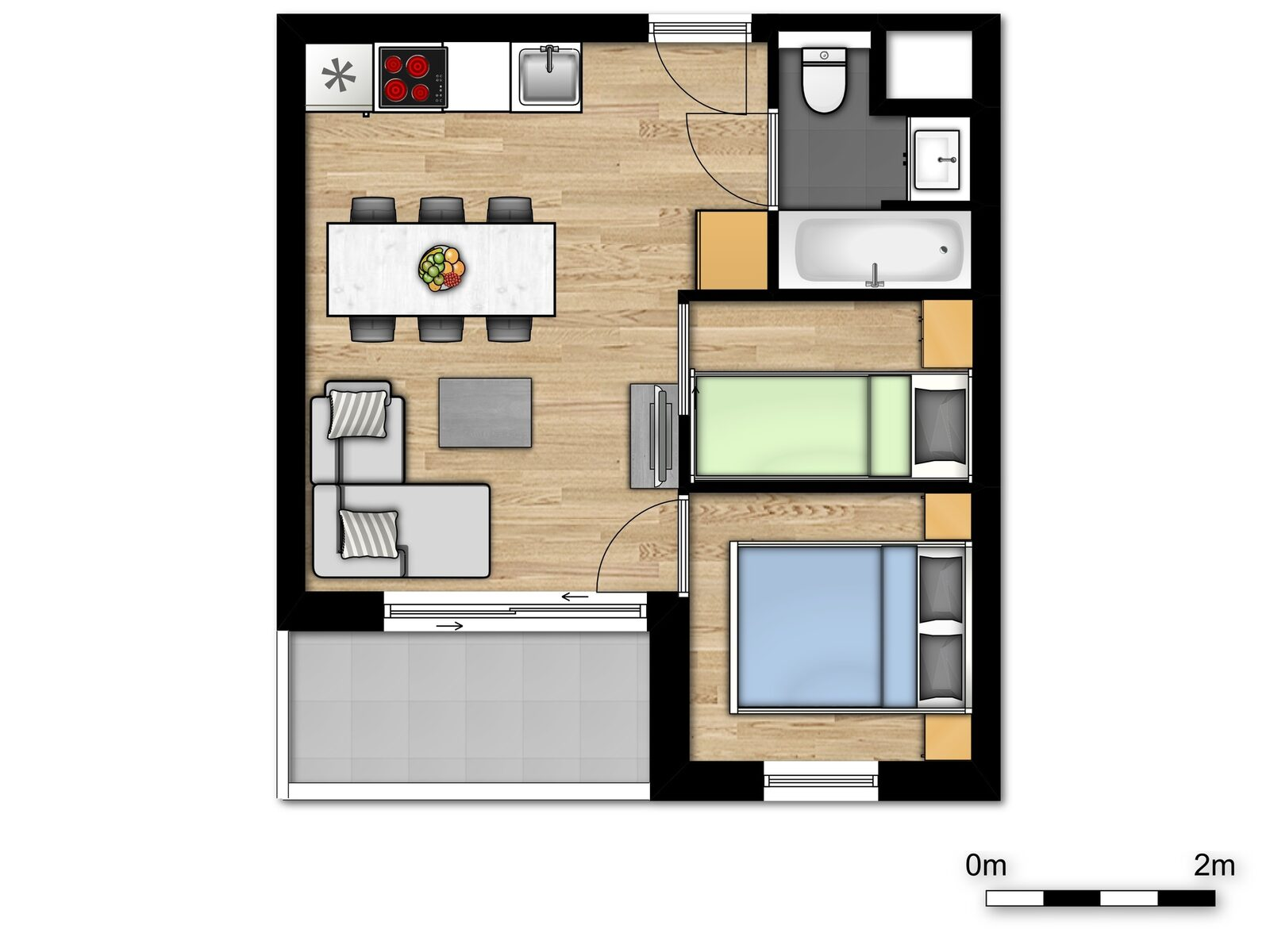Basic Holiday Suite for 6 people