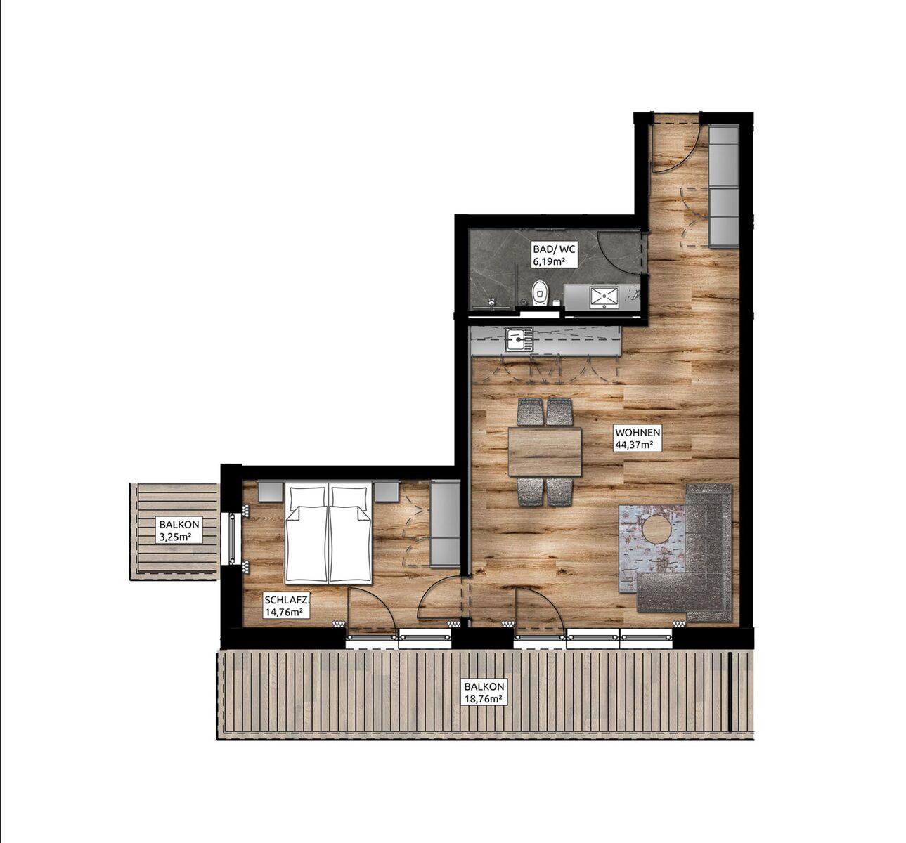 Junior Apartment Plus | 2-4 Pers.