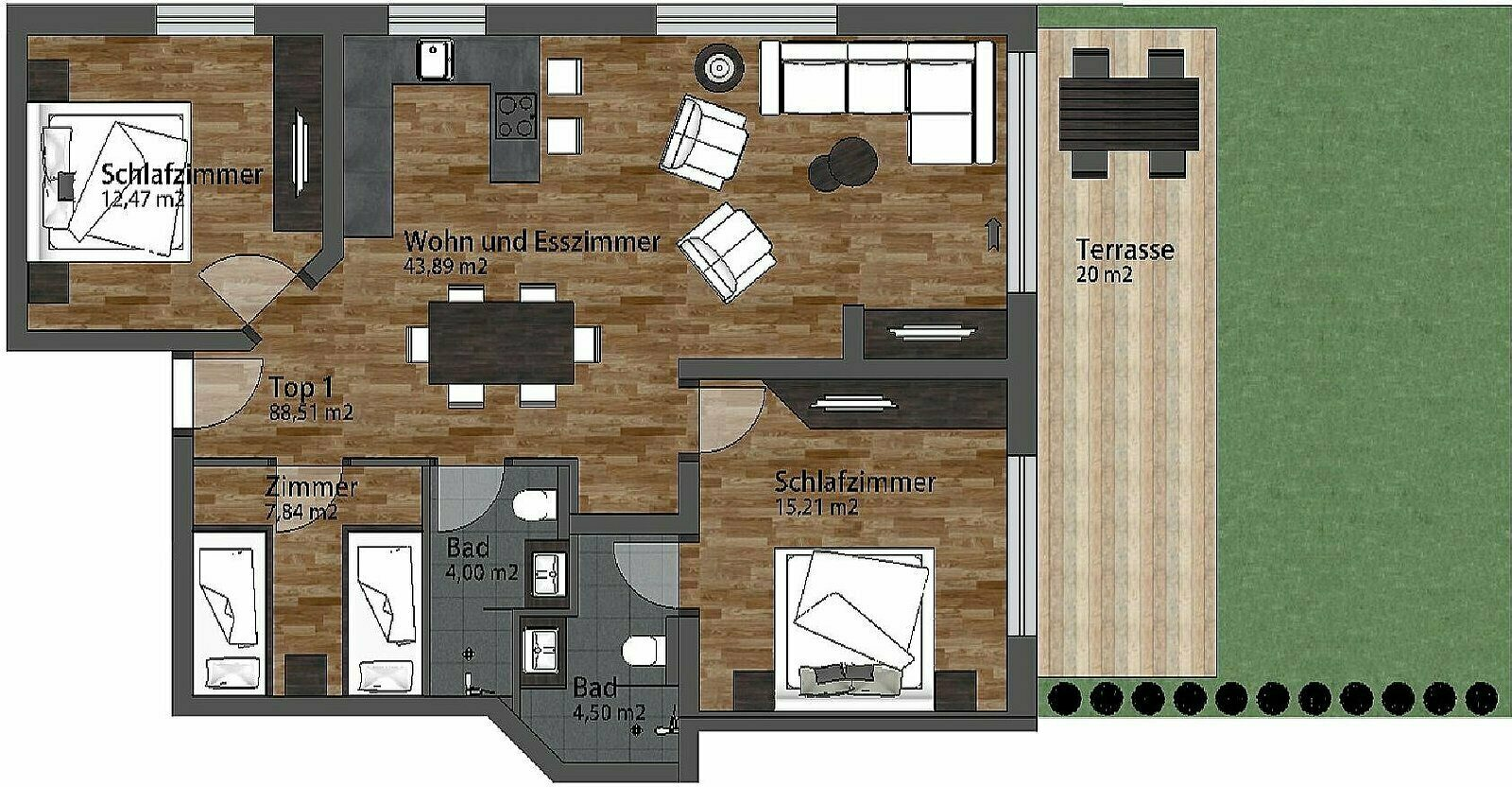 Luxus Apartment Family   8+2 Pers.