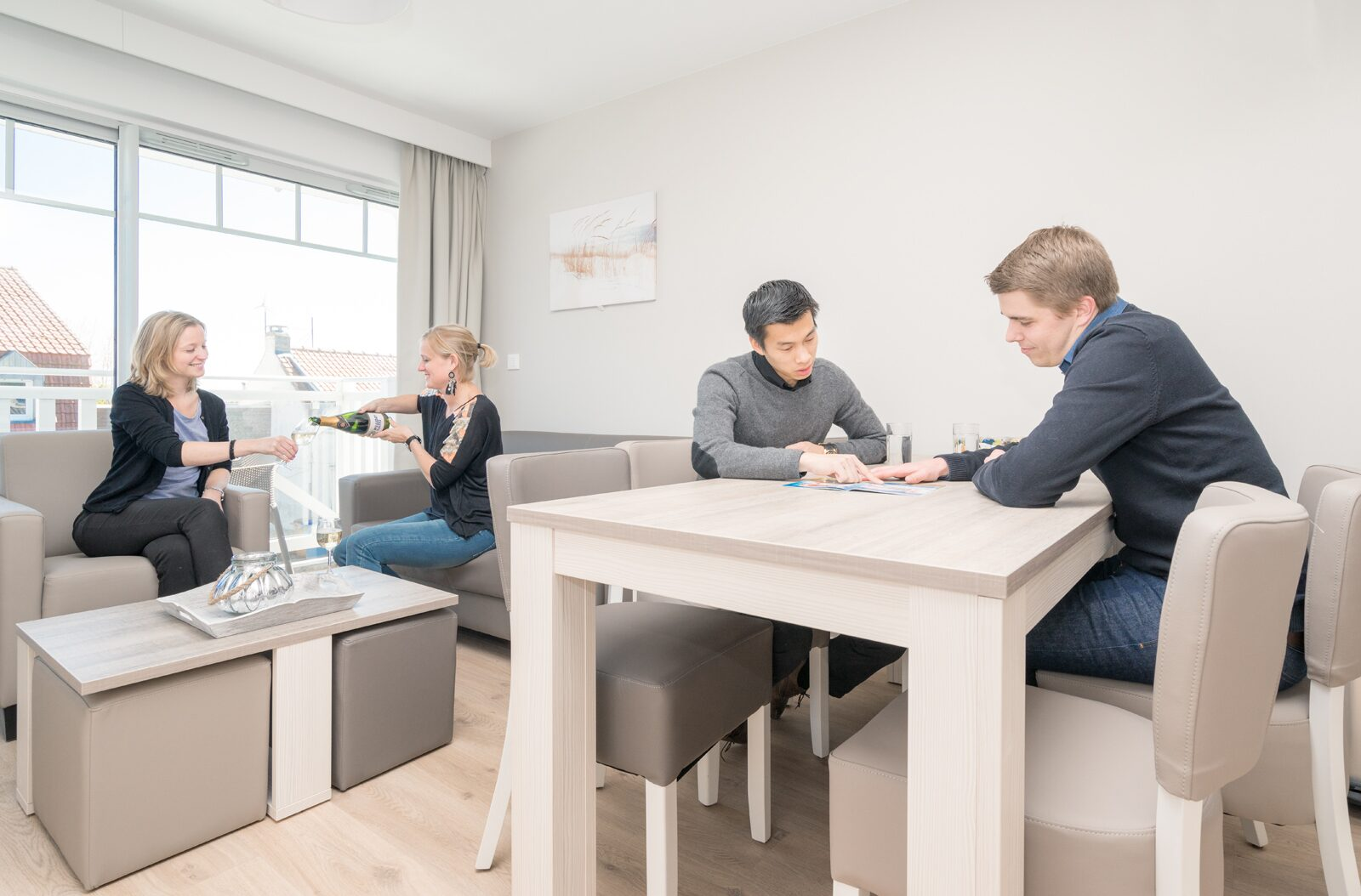 Suite for 6 people with balcony