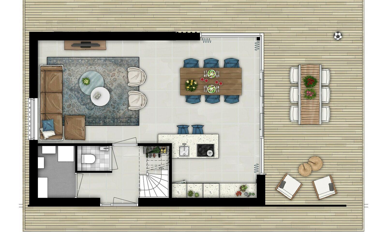 Ferienhaus 6 Personen Komfort