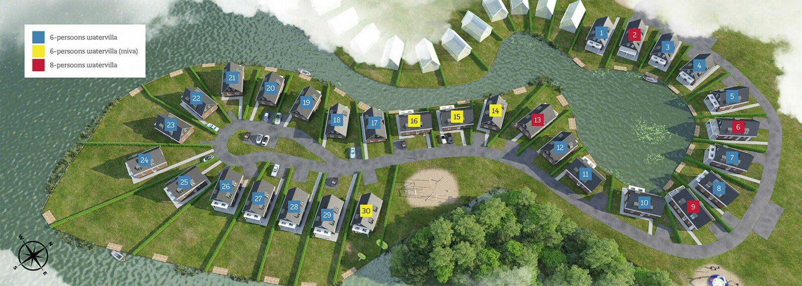 Luxuswasservilla für 6 Personen