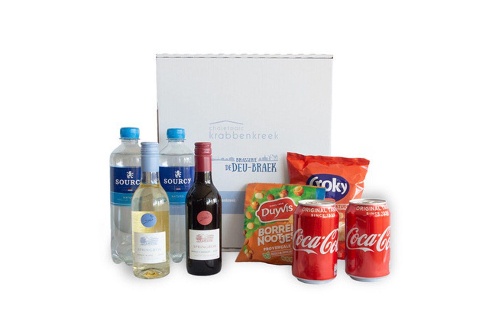 Minibar-Paket mit Wein