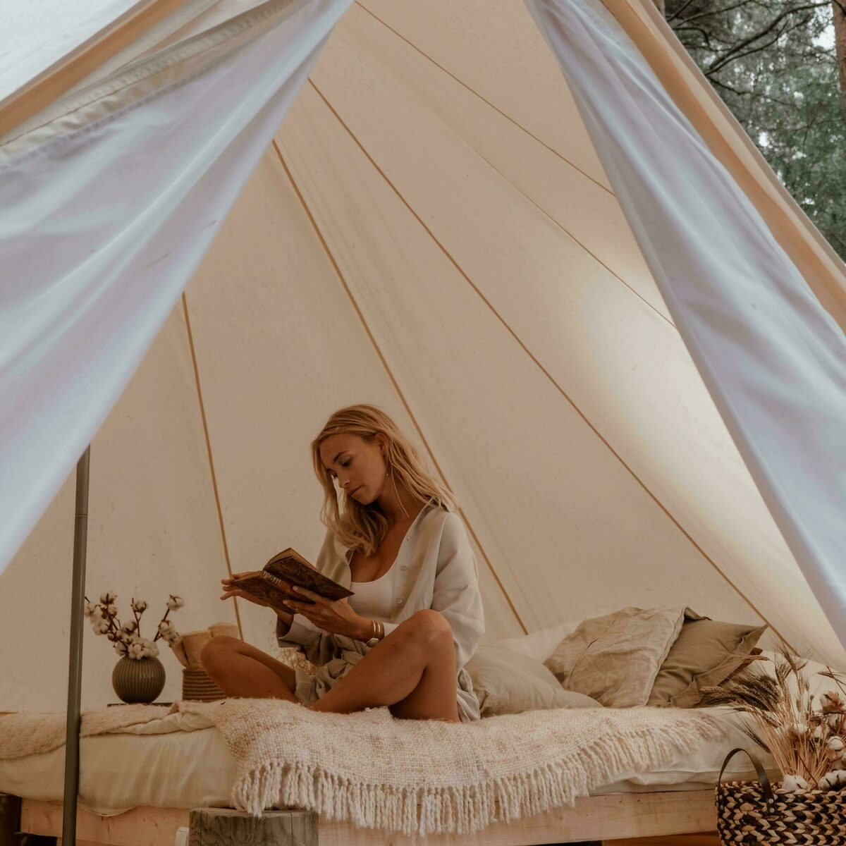 Pop-up glamping: 6x Awaji 2P + 6x Belltentje 2P | 24 pers.