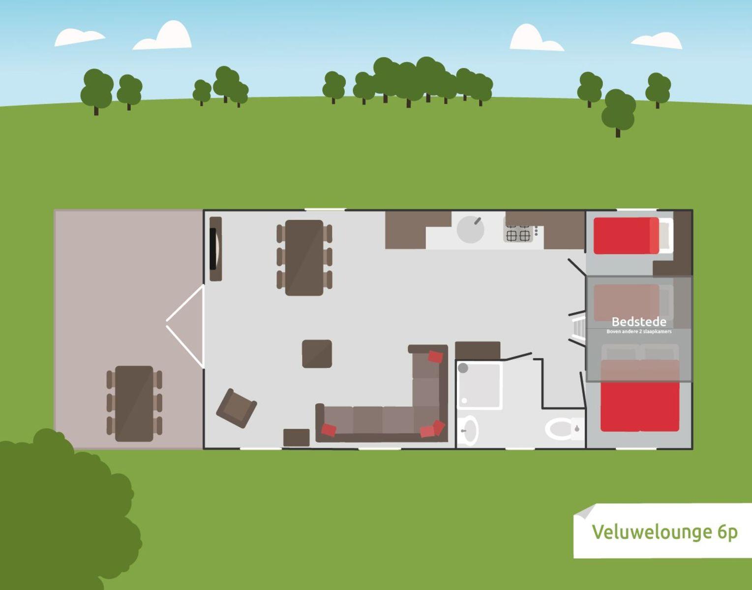 Veluwe-Lounge für 6 Personen