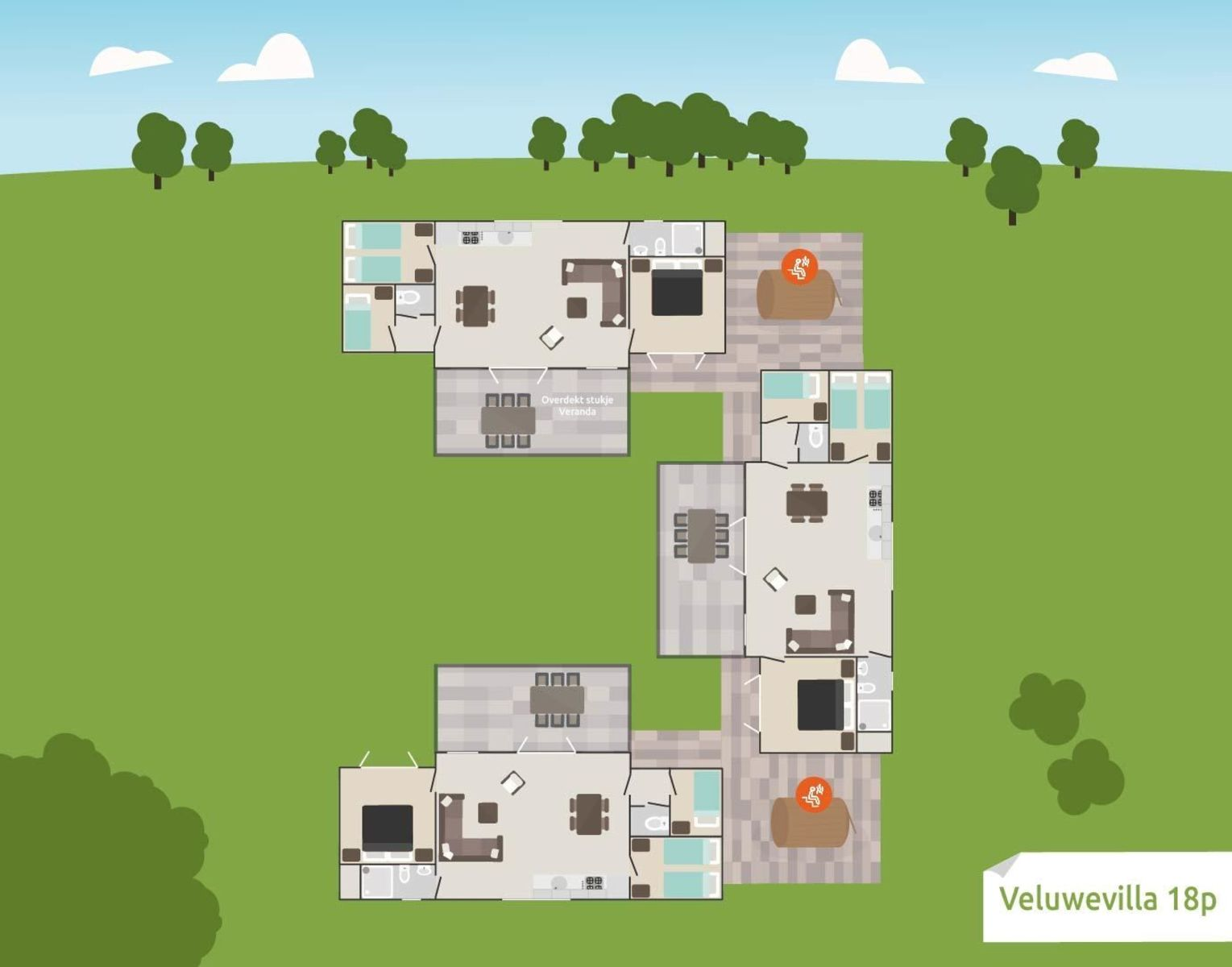 18-person Veluwe Villa district