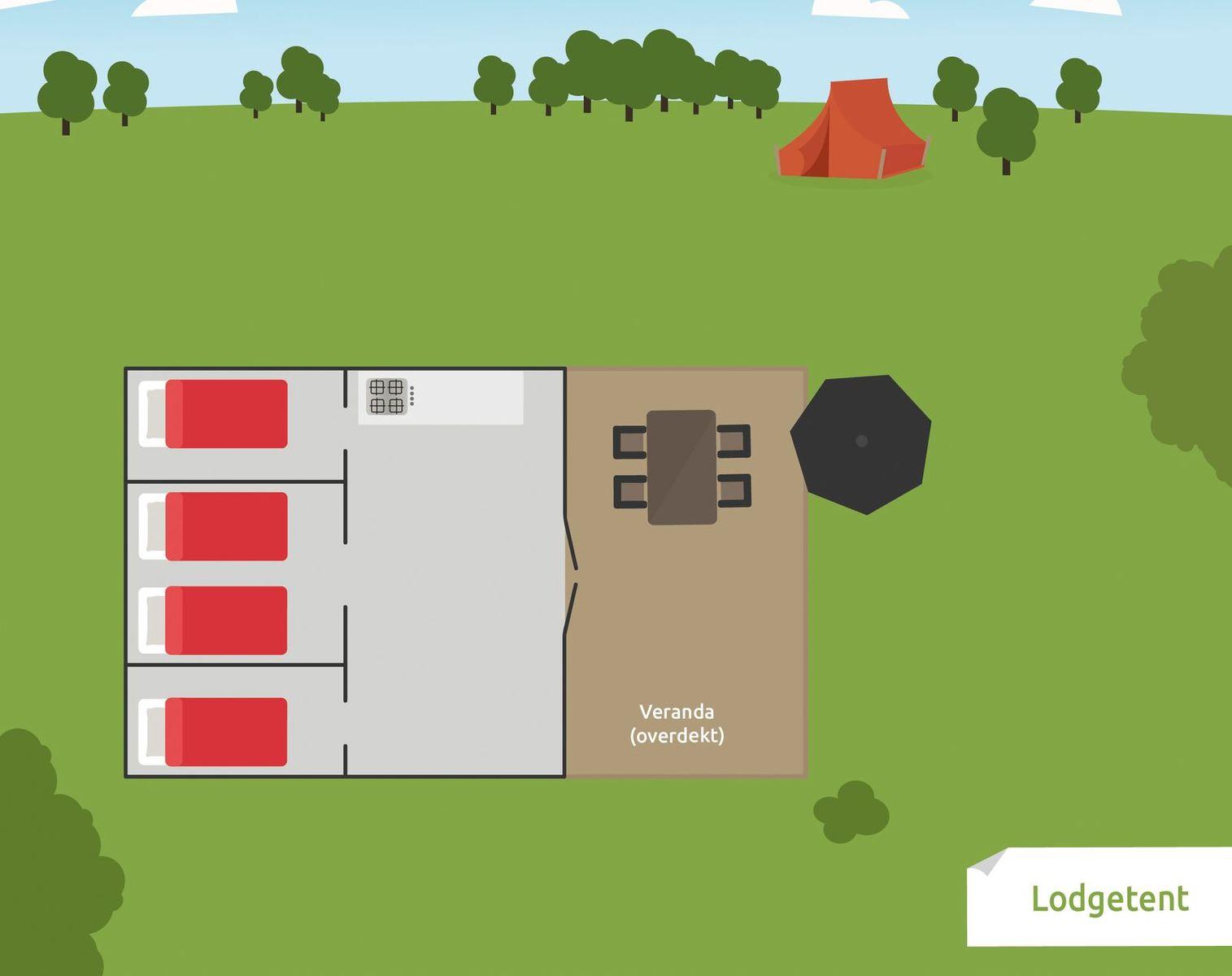 5-persoons Lodgetent eenoudergezin