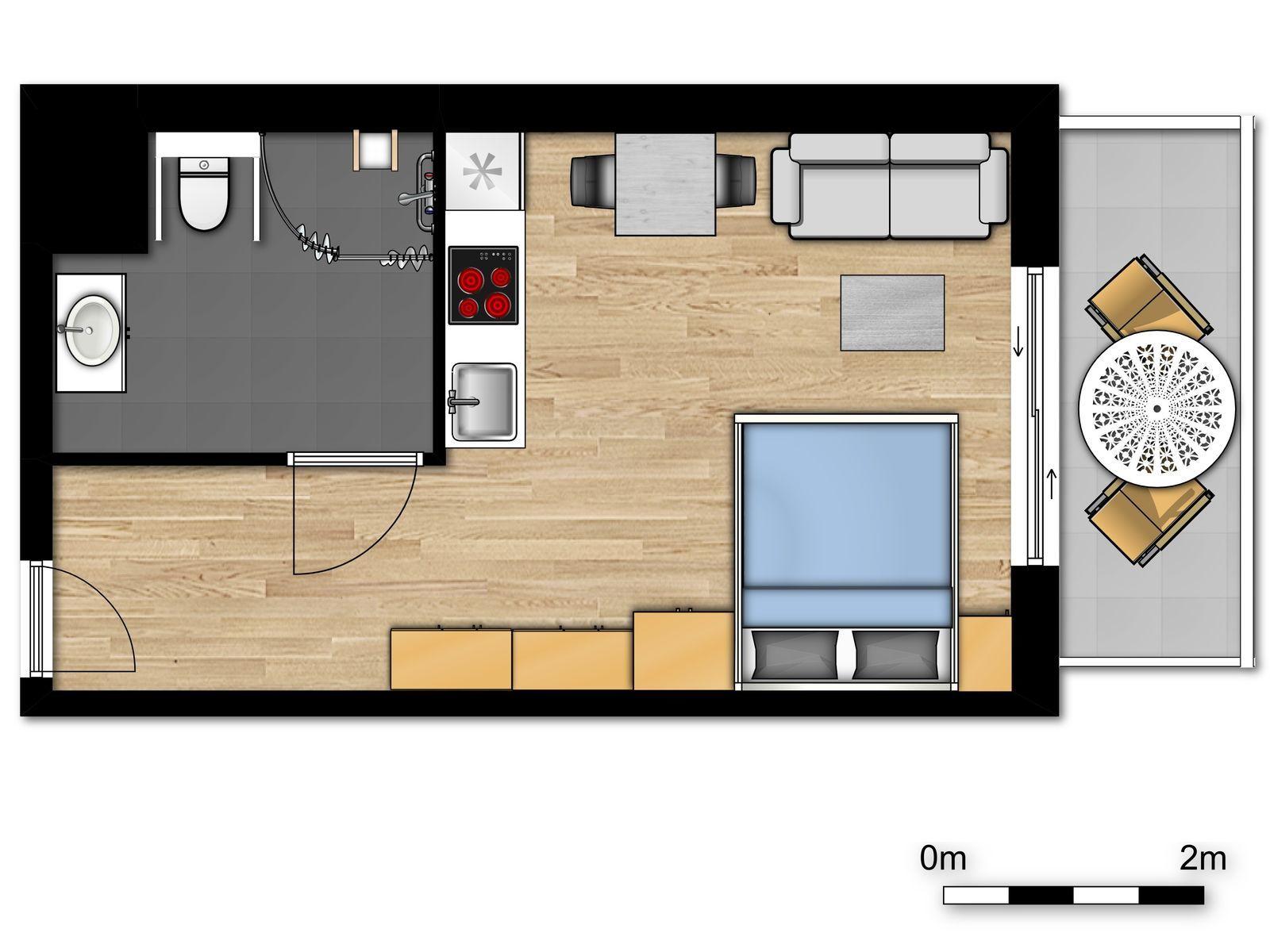 Nouveau logement de vacances pour 2 personnes, accessibles aux personnes handicapées